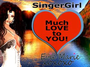 Yvonne DeBandi, Evie Marie, SingerGirl - Professional Singer